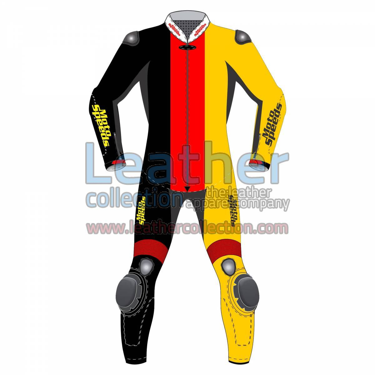 Germany Vertical Flag Motorcycle Suit