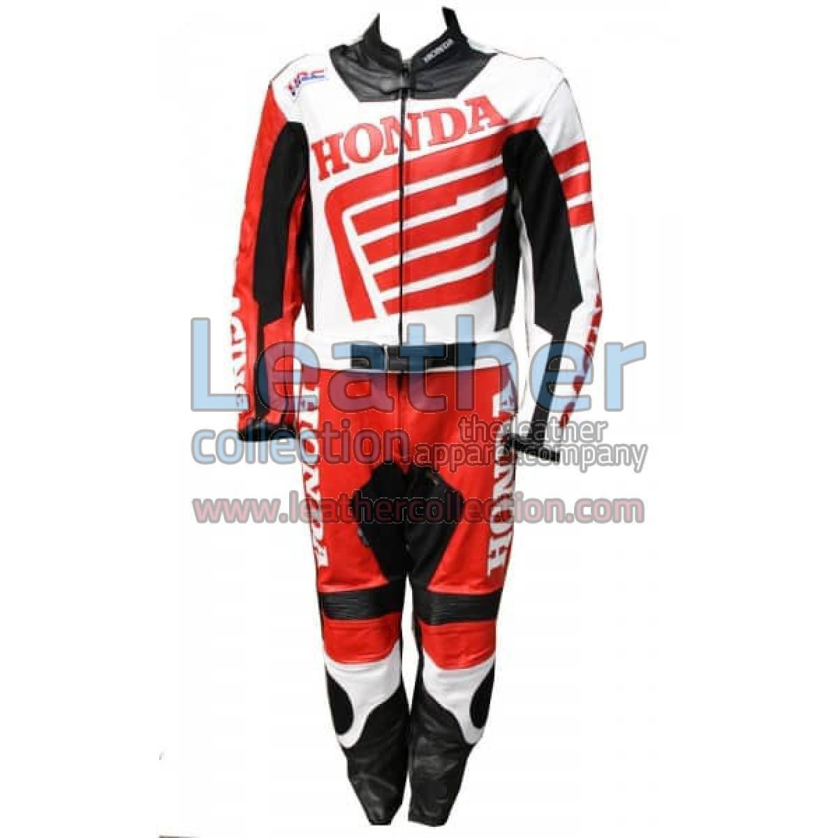 Honda Motorbike Racing Leather Suit