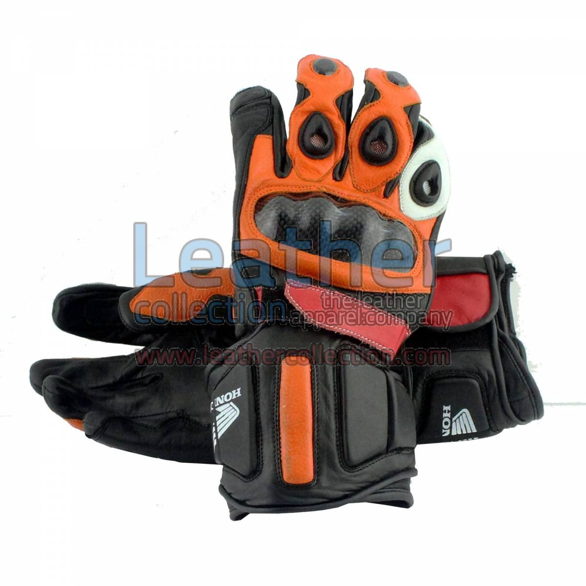 Honda Repsol Motorbike Leather Gloves