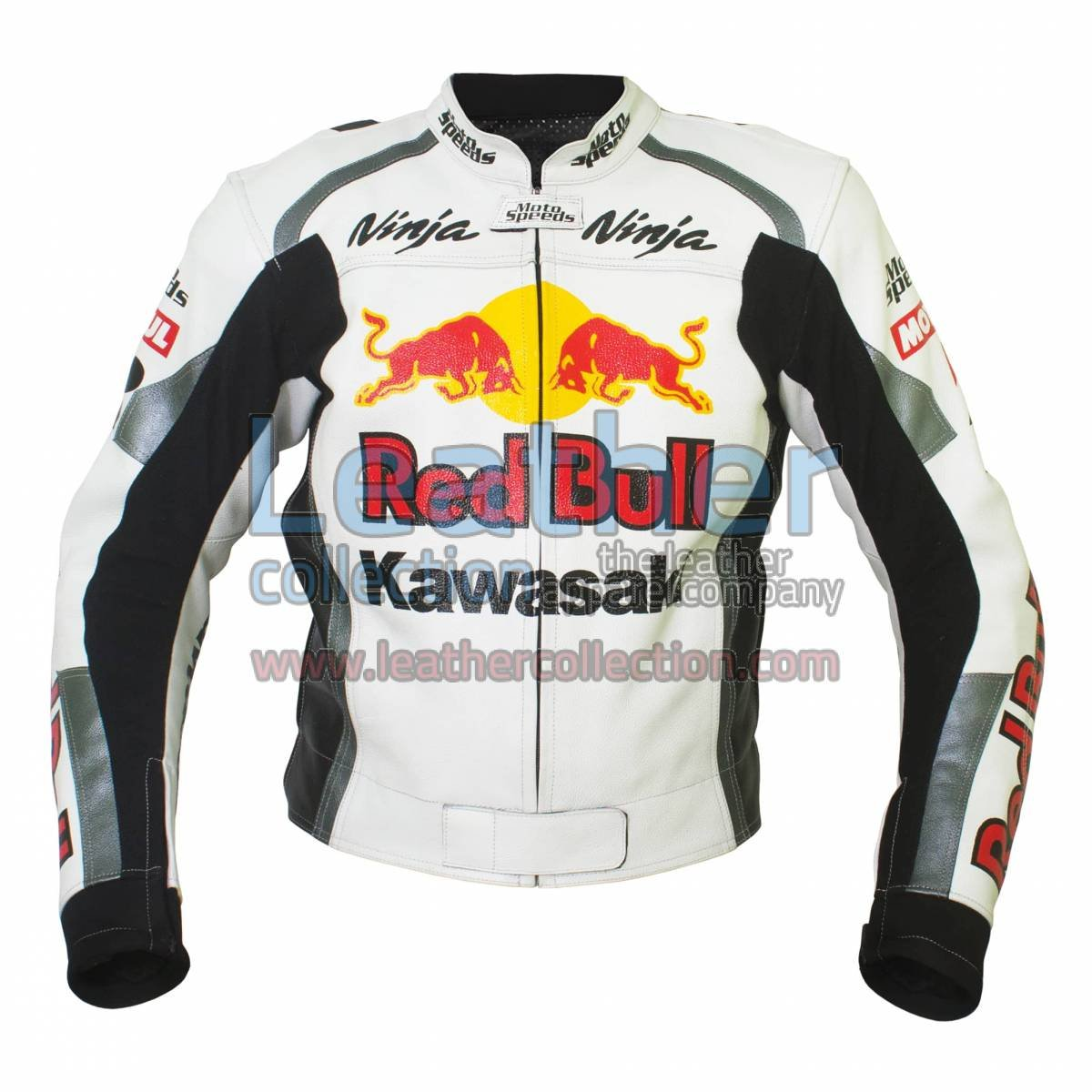 Kawasaki Ninja Redbull Motorbike Leather Jacket