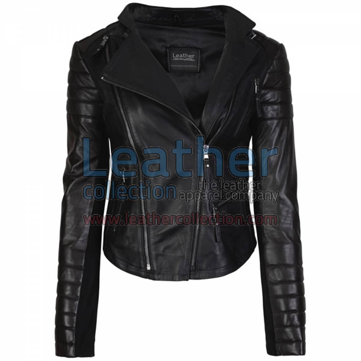 Kelly Fashion Ladies Leather Jacket Black
