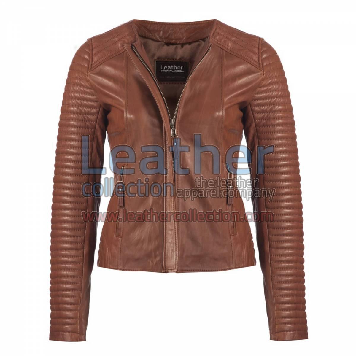 Ladies Legacy Leather Jacket Brown