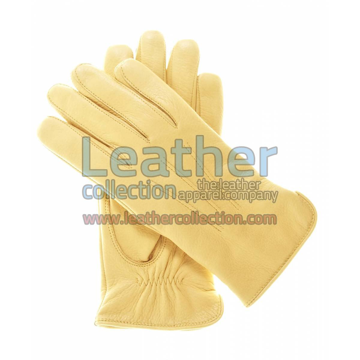 Ladies Winter Tan Gloves with Wool Lining