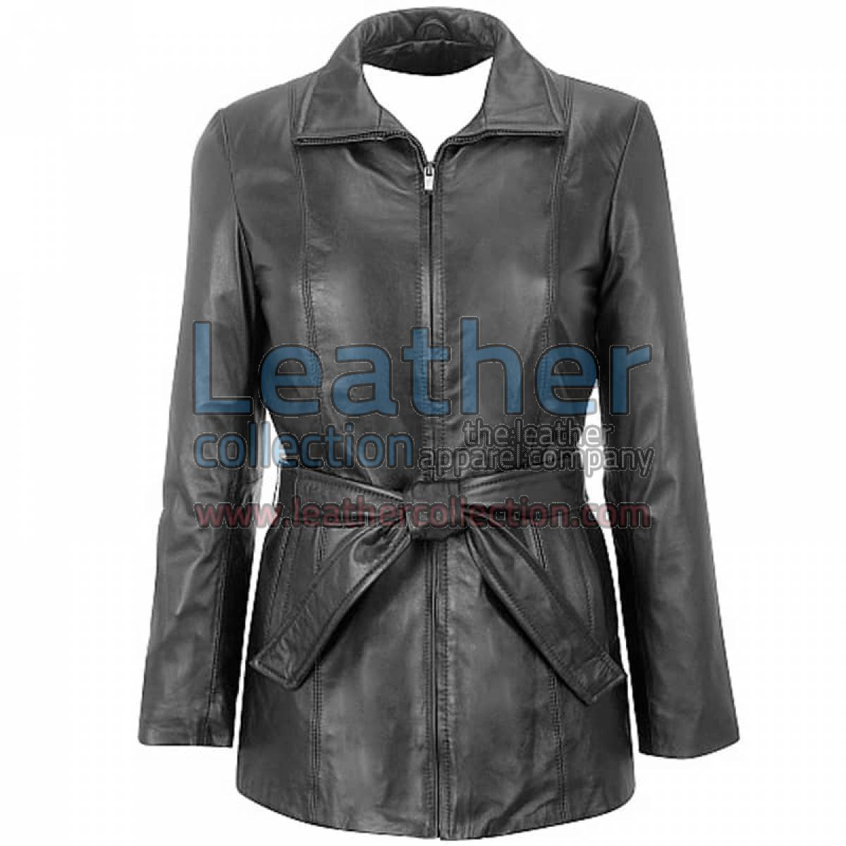 Lambskin Belted Hipster Coat