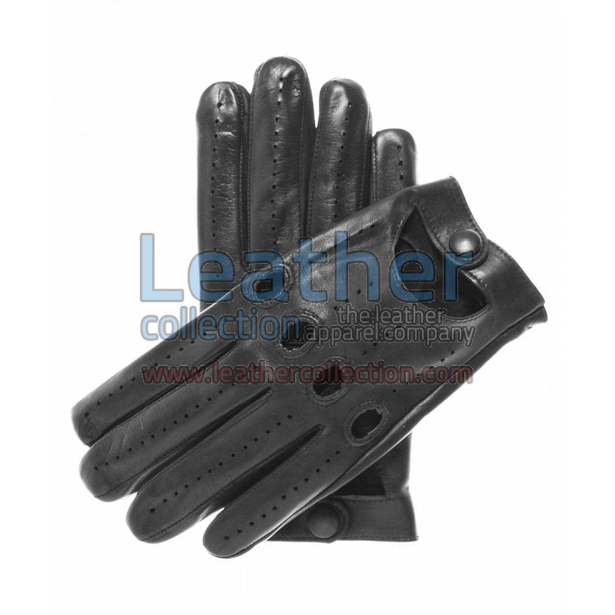 Lambskin Driving Gloves Black