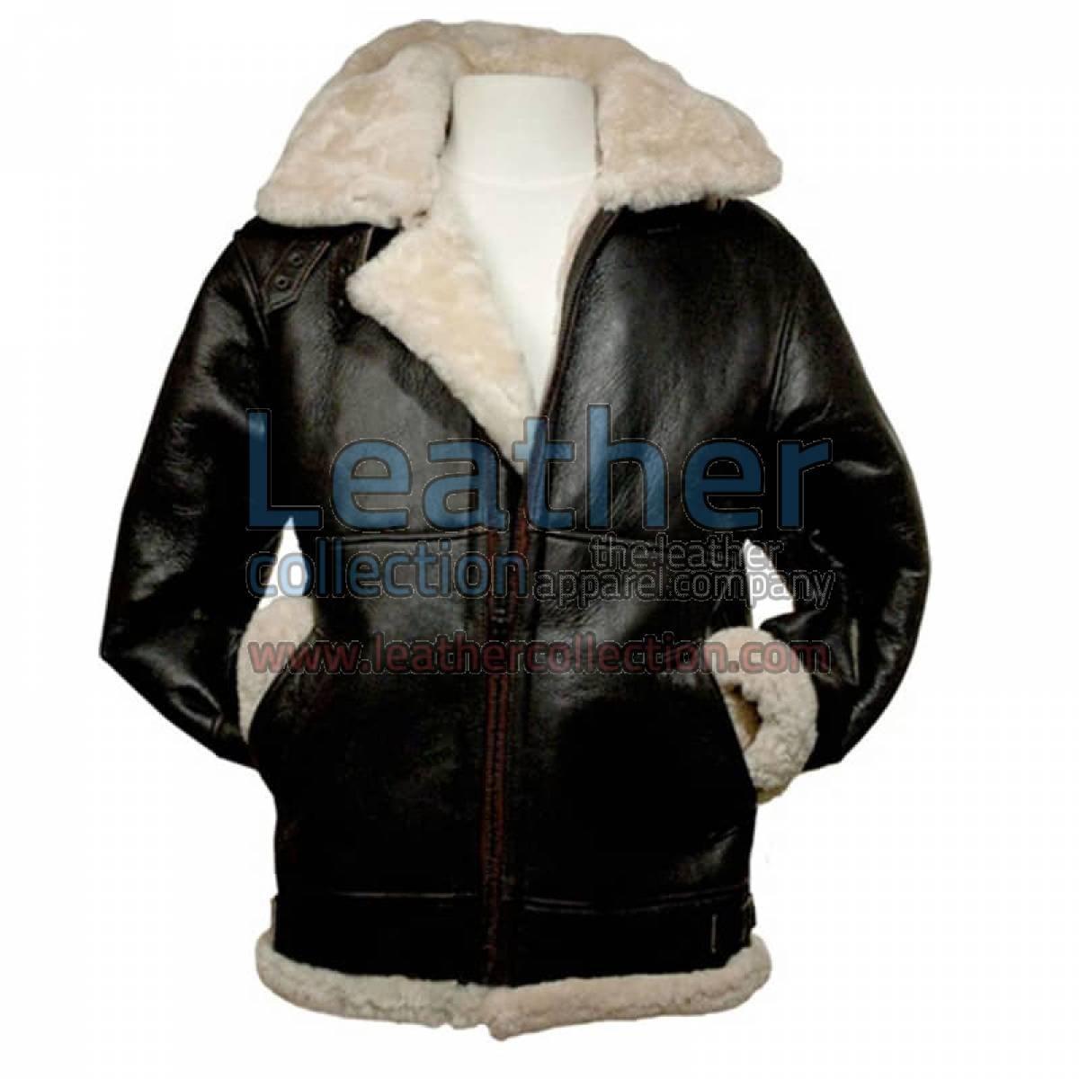 Leather 3/4 Length Fur Jacket