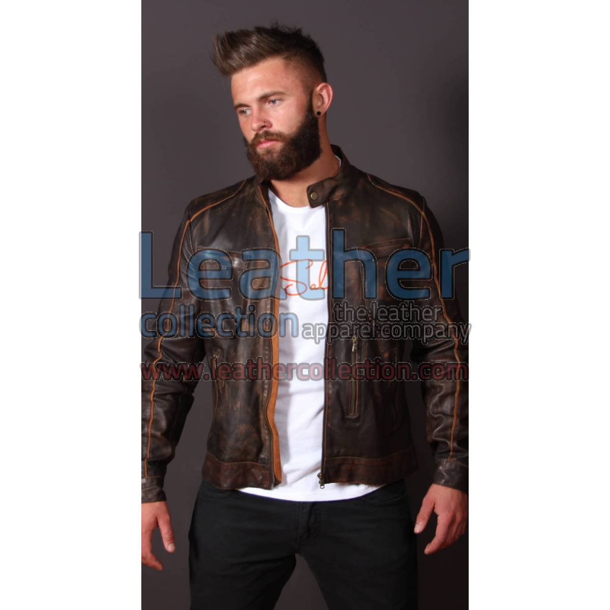 Leather Outlaw Jacket For Men