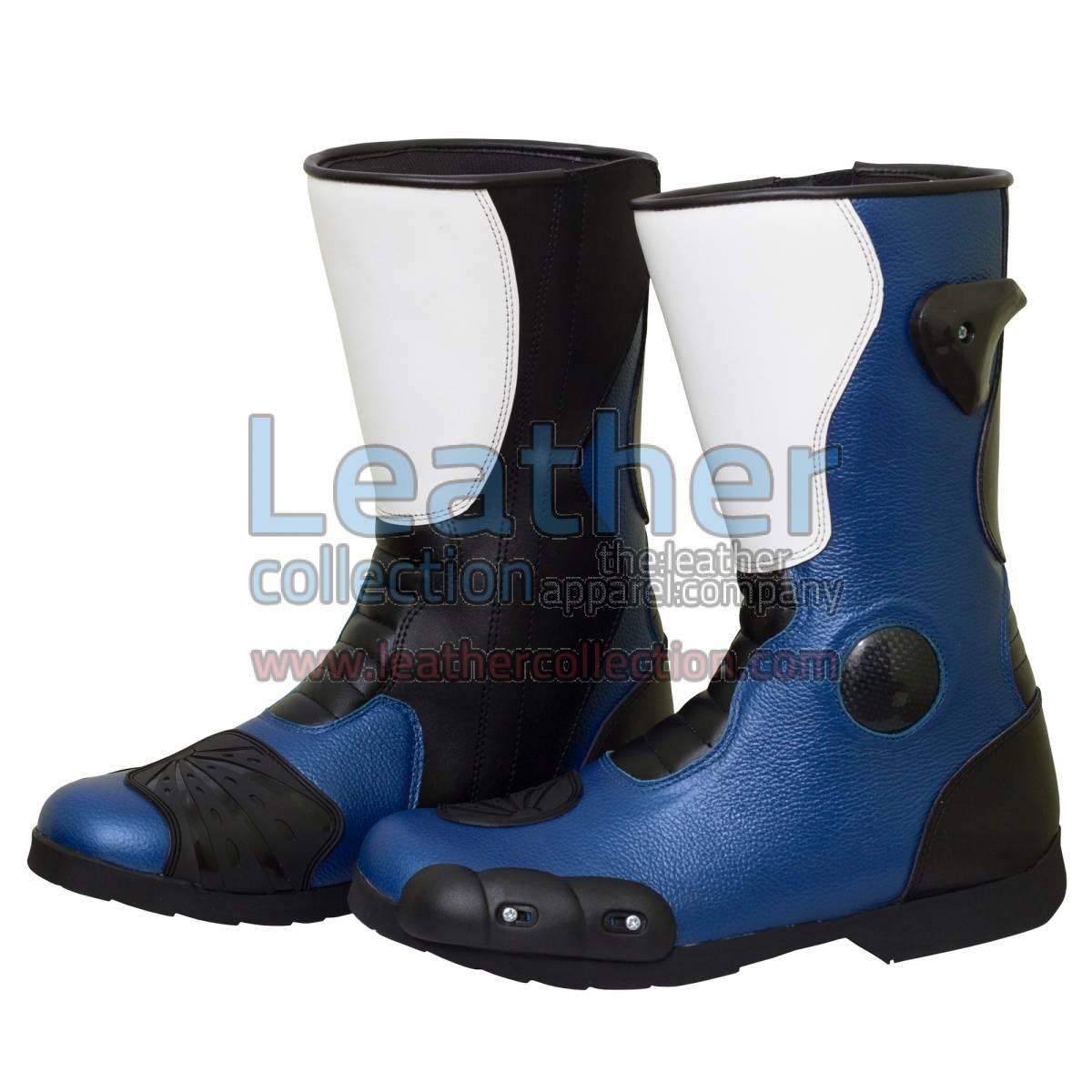 Leon Haslam Leather Biker Boots