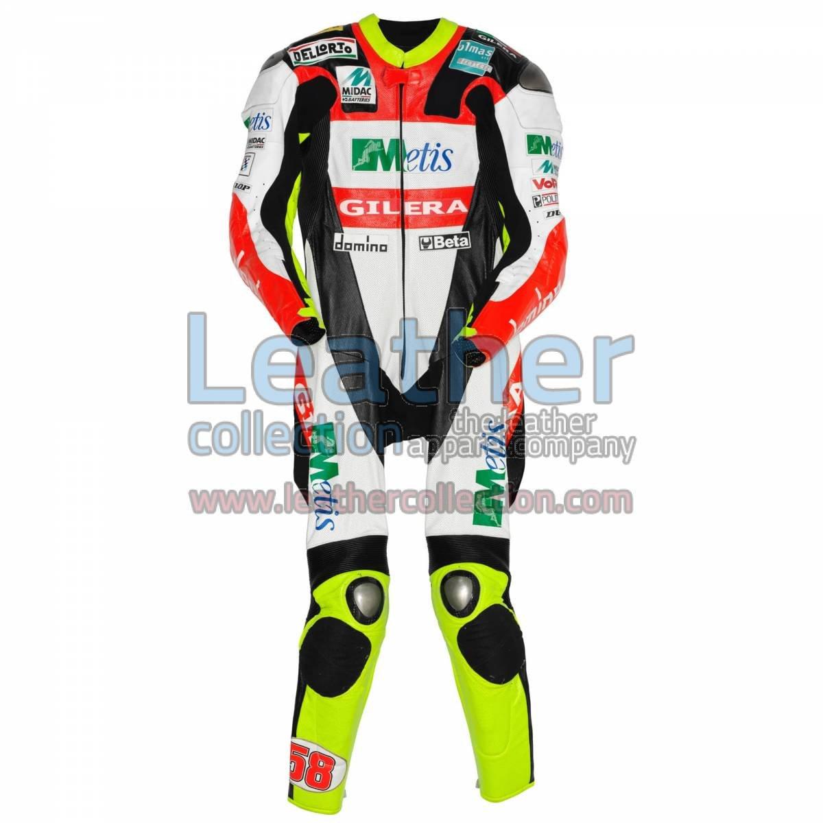 Marco Simoncelli Gilera GP 2008 Leathers