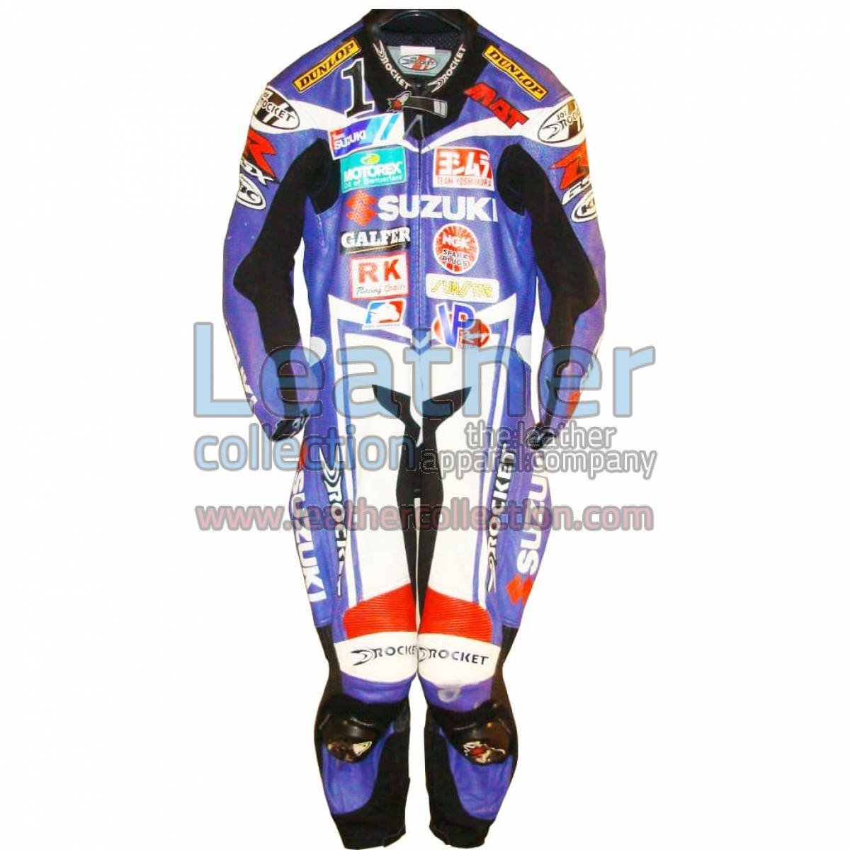 Mat Mladin Suzuki AMA 2005 Leather Suit