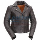 Modern Motorcycle Jacket with Snap Front