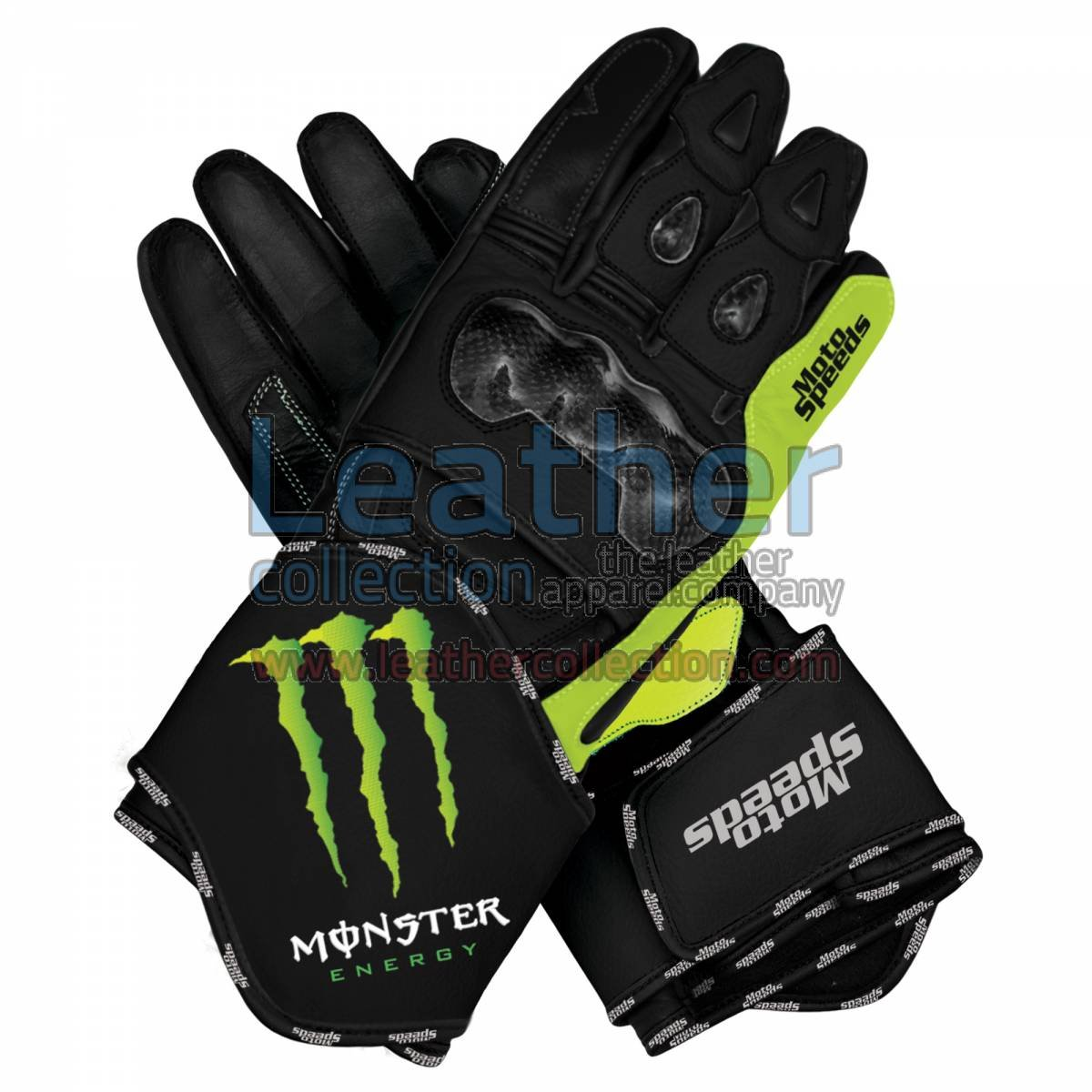 Monster Motorbike Race Leather Gloves