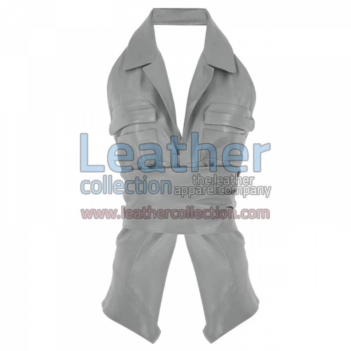 Naked Belted Fashion Leather Vest