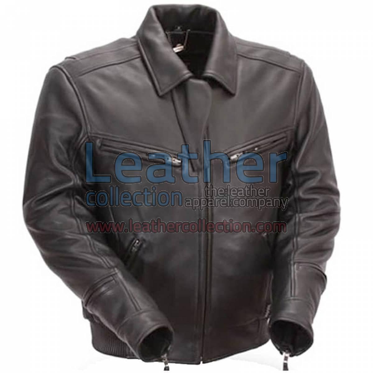 Naked Black Leather Bronson Hybrid Motorcycle Jacket