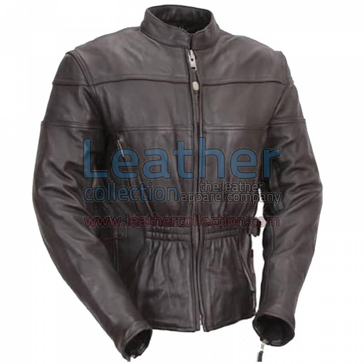 Premium Black Leather Motorcycle Touring Jacket