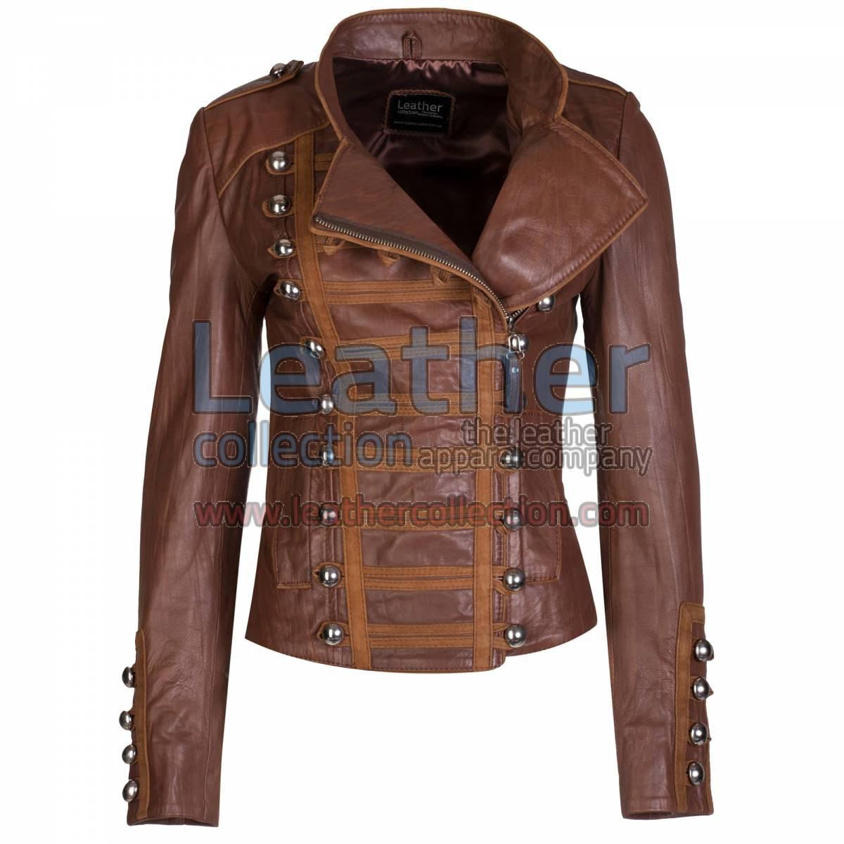 Princess Antique Brown Leather Jacket