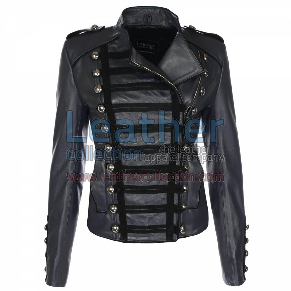 Princess Charcoal Leather Jacket