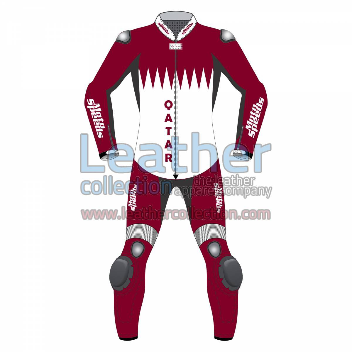 Qatar Flag Motorbike Race Suit
