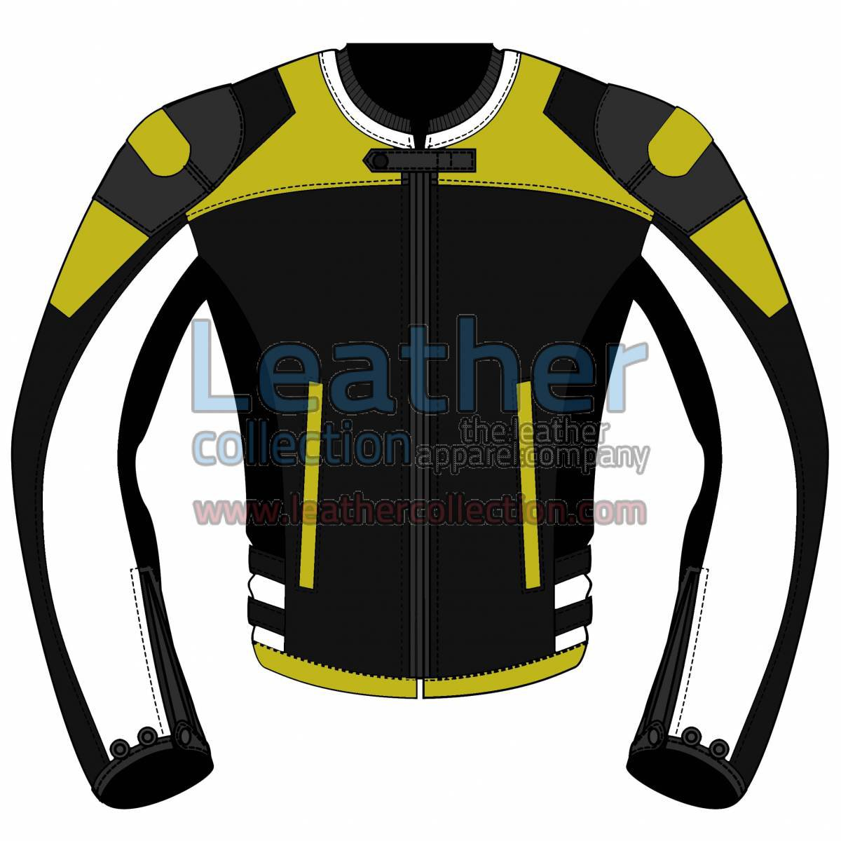Quad Color Motorbike Leather Jacket For Women