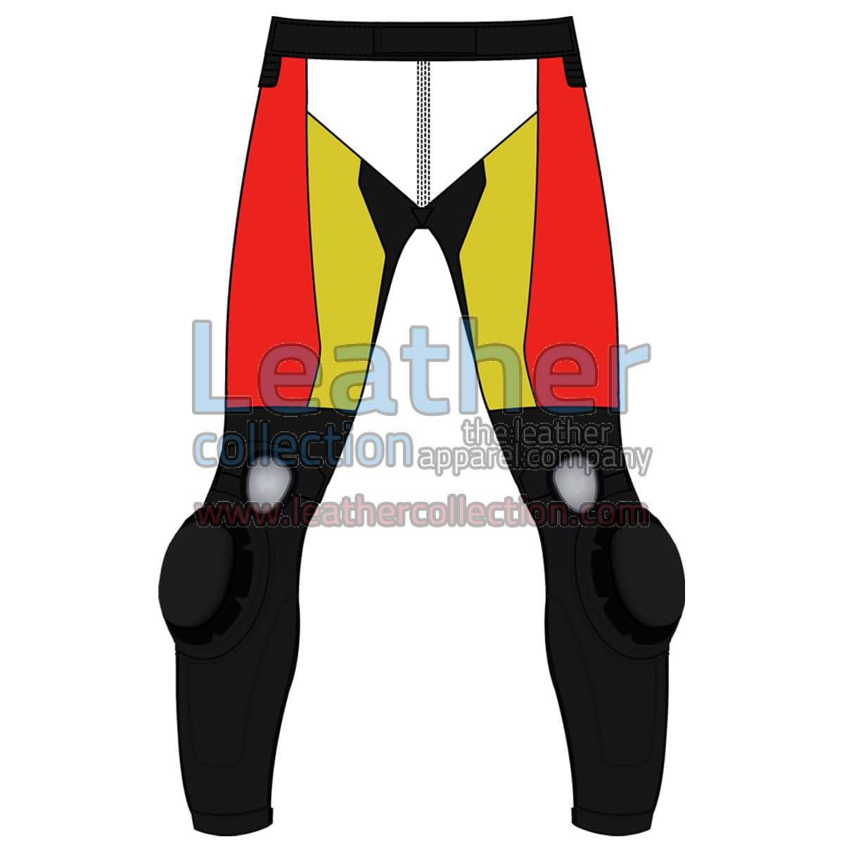 Quad Color Motorbike Leather Pant For Men