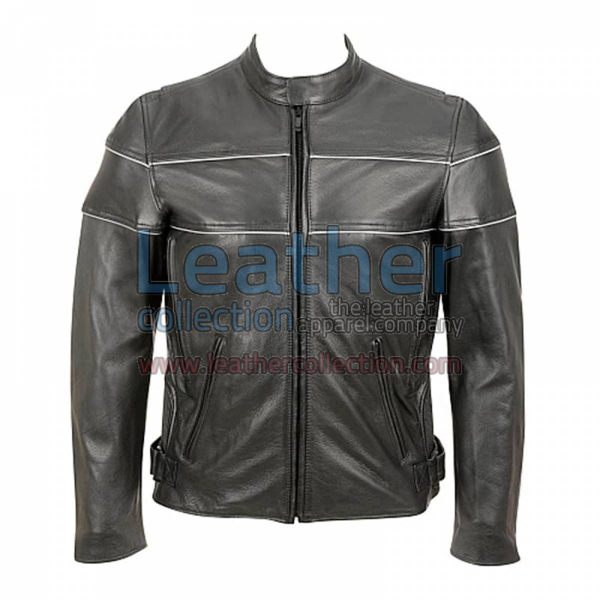Reflector Stripe Piping Jacket For Motorbike