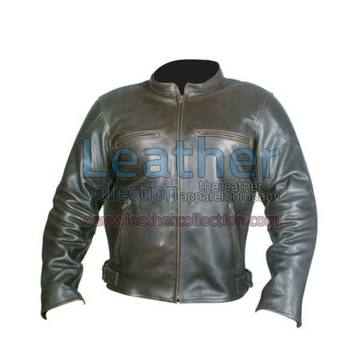Retro Brown Leather Jacket