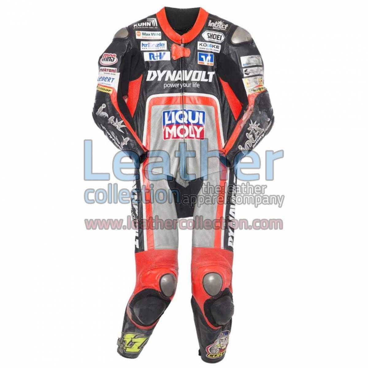 Sandro Cortese 2014 Moto2 Motorbike Leather Suit