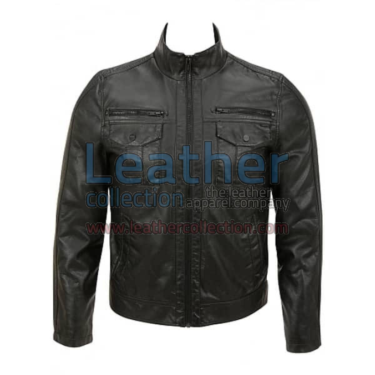 Semi Fashion Moto Leather Jacket