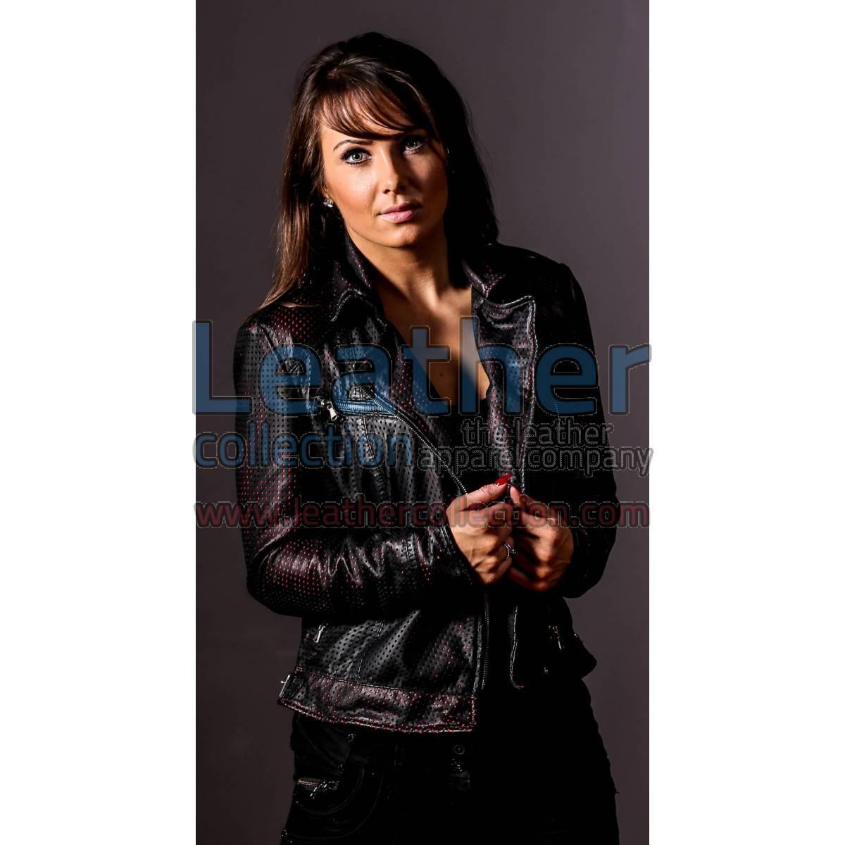 She Devil Perforated Bomber jacket