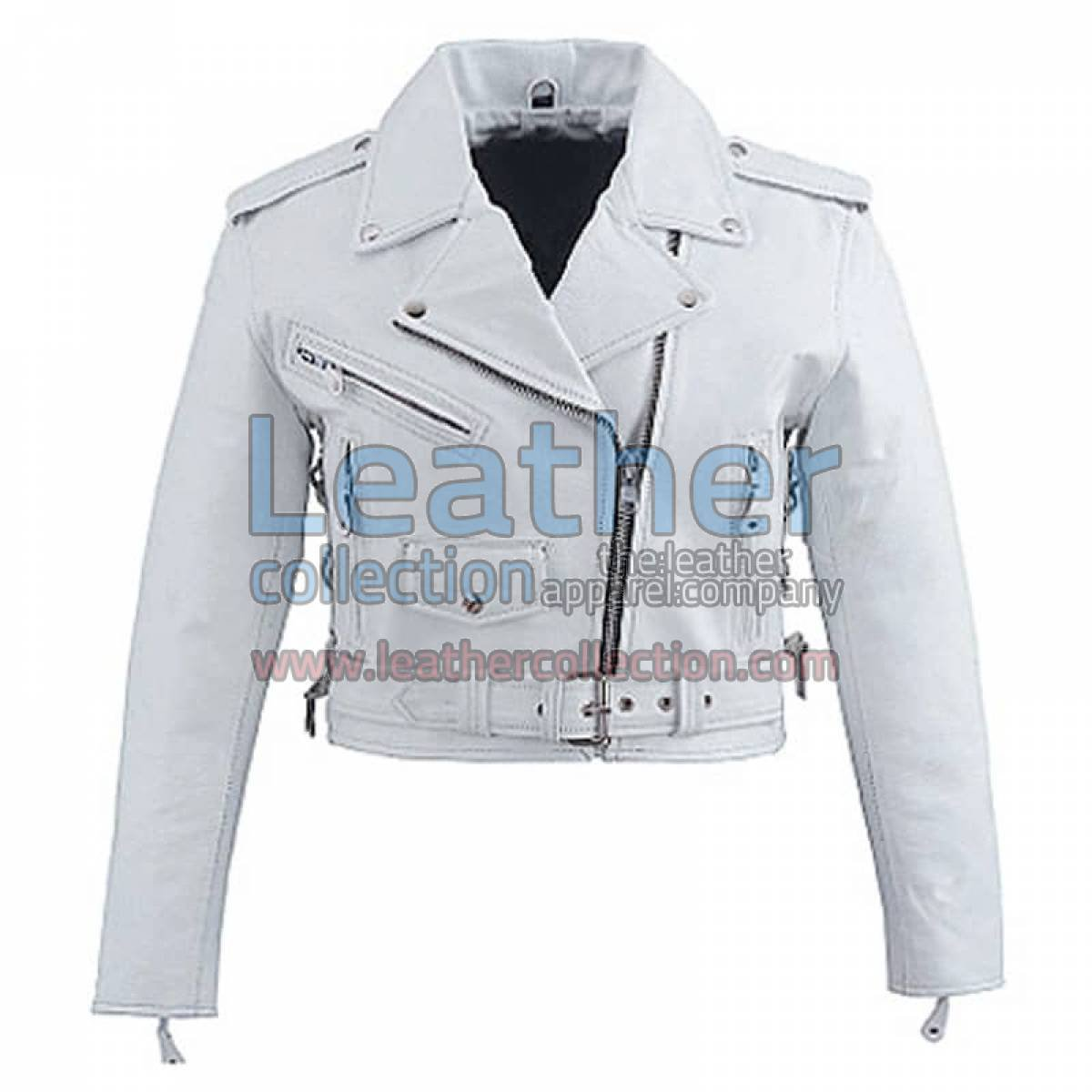 Snow Brando Style Biker Leather Jacket