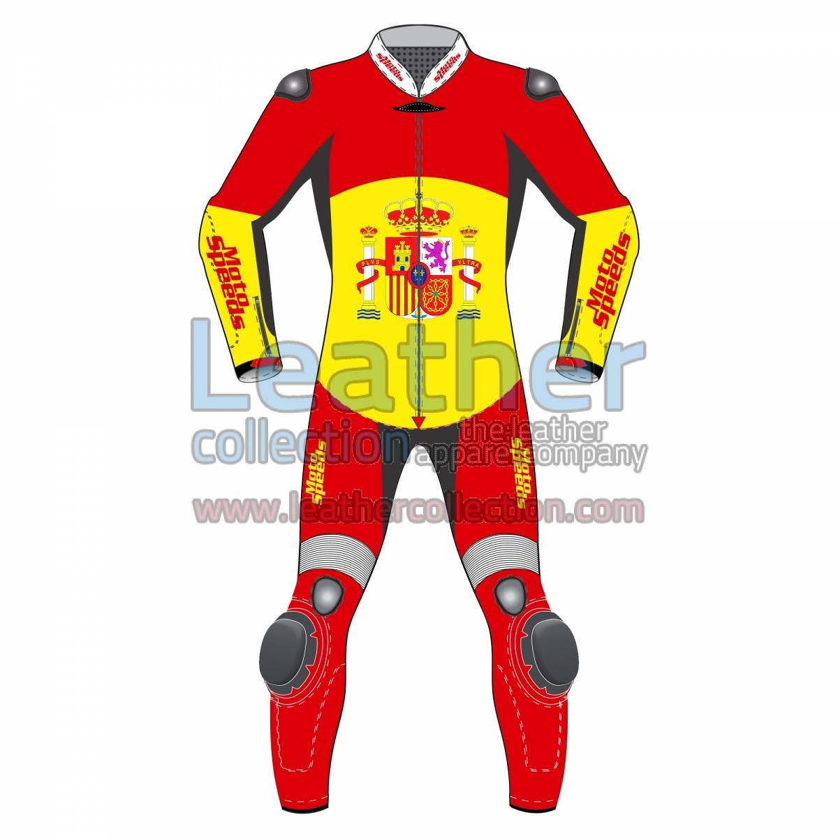 Spain Rounded Flag Race Suit