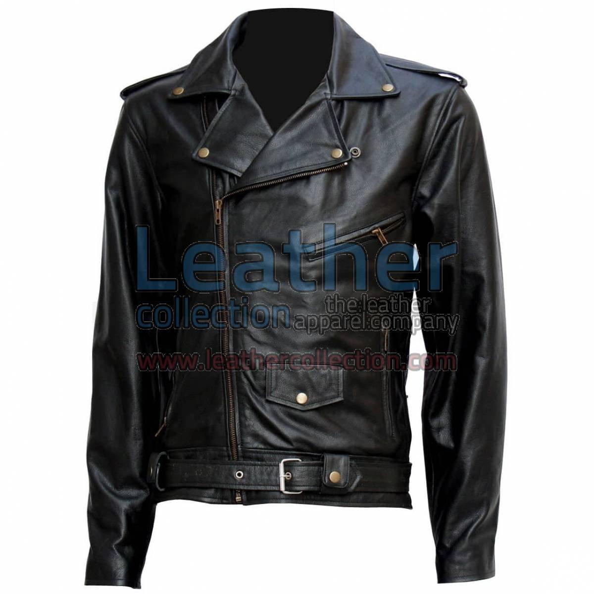 "Terminator "" Arnold "" Biker Leather Jacket"