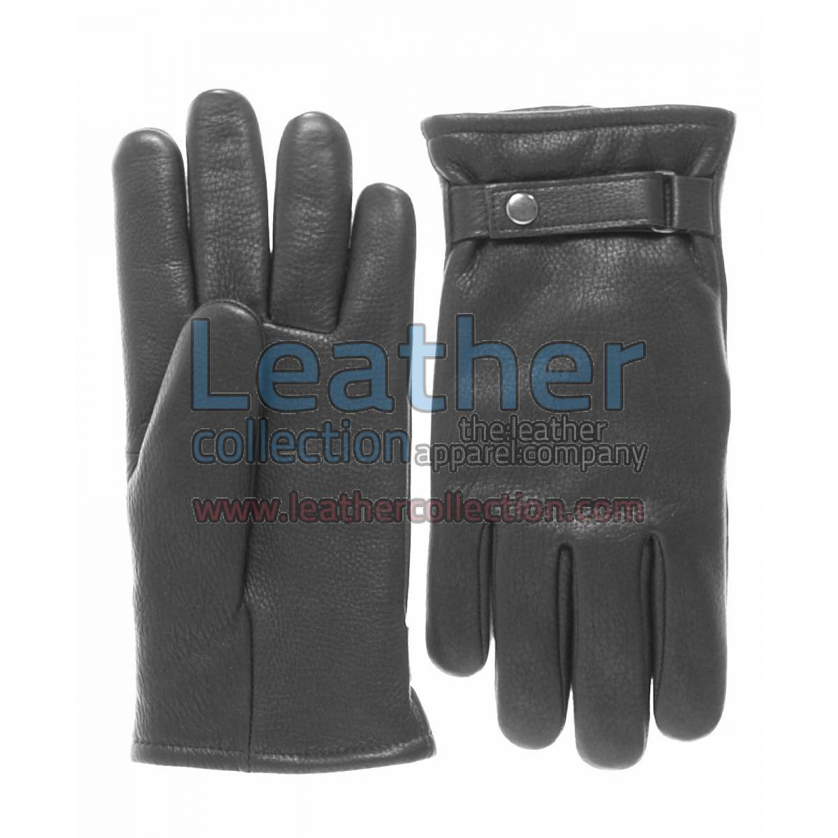 Tough Leather Gloves Black With Thinsulate Lining