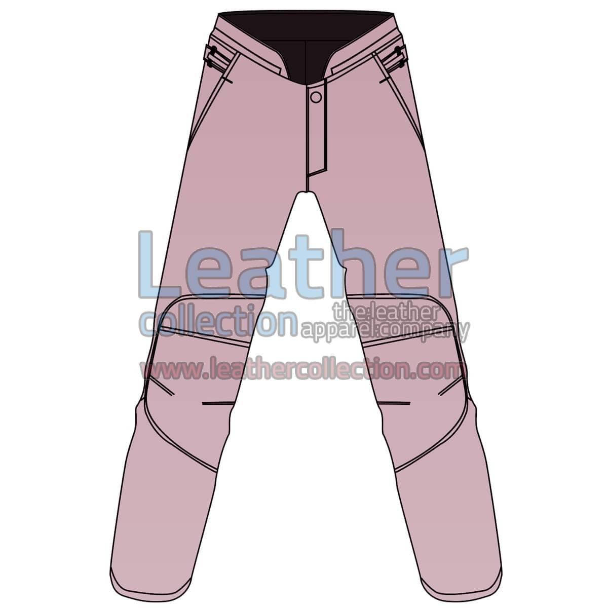Uni Color Motorbike Leather Pant For Women