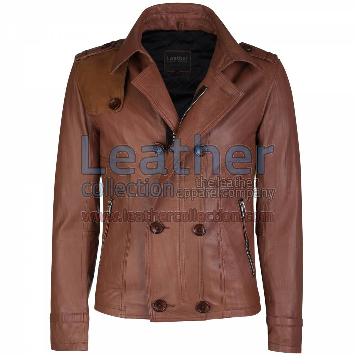 Unique Brown Leather Jacket