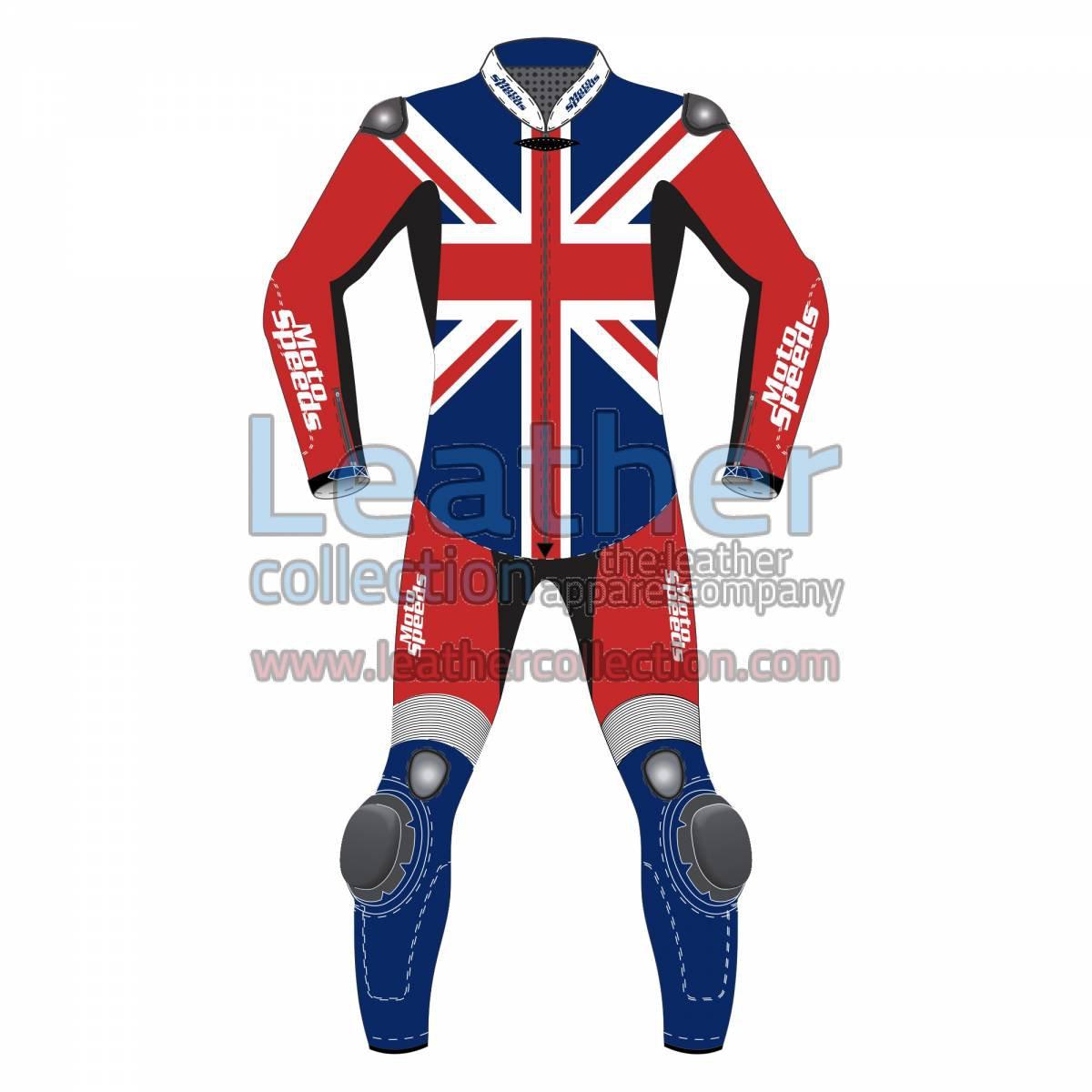 United Kingdom Flag Motorcycle Riding Suit