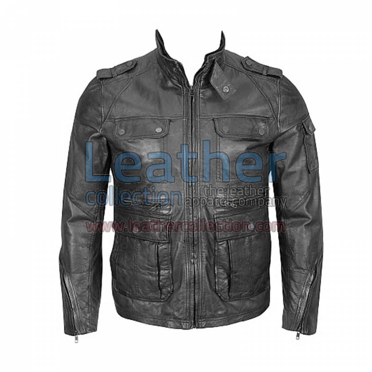 Washed Leather 4-Pocket Hipster