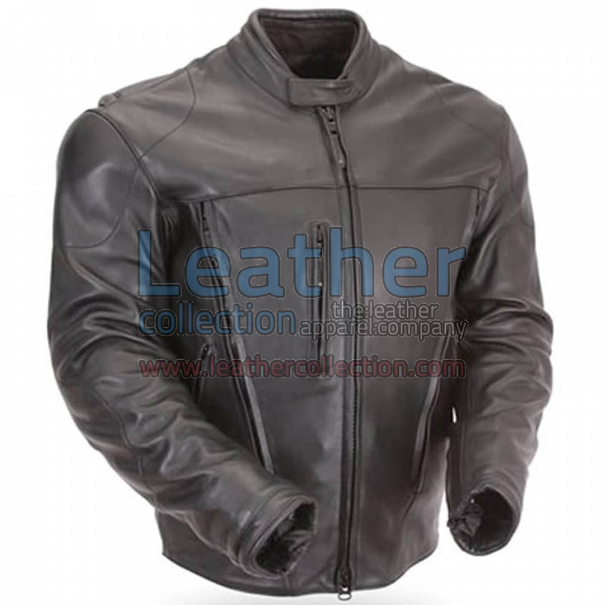 Waterproof Motorcycle Leather Jacket with CE Armor