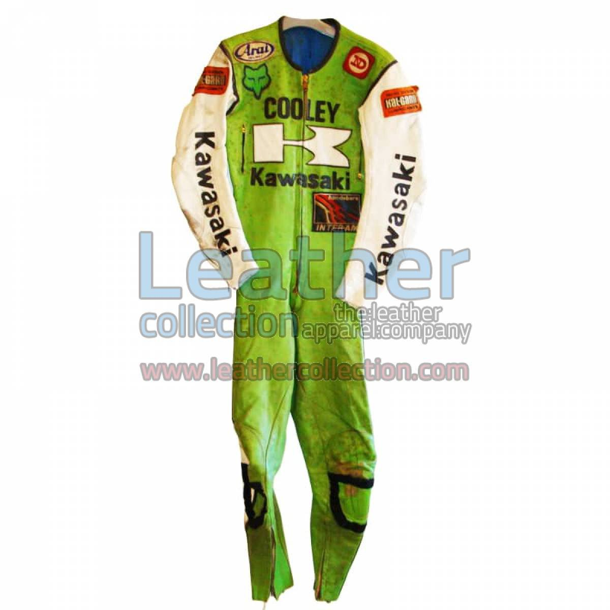 Wes Cooley Kawasaki AMA 1983 Leather Suit