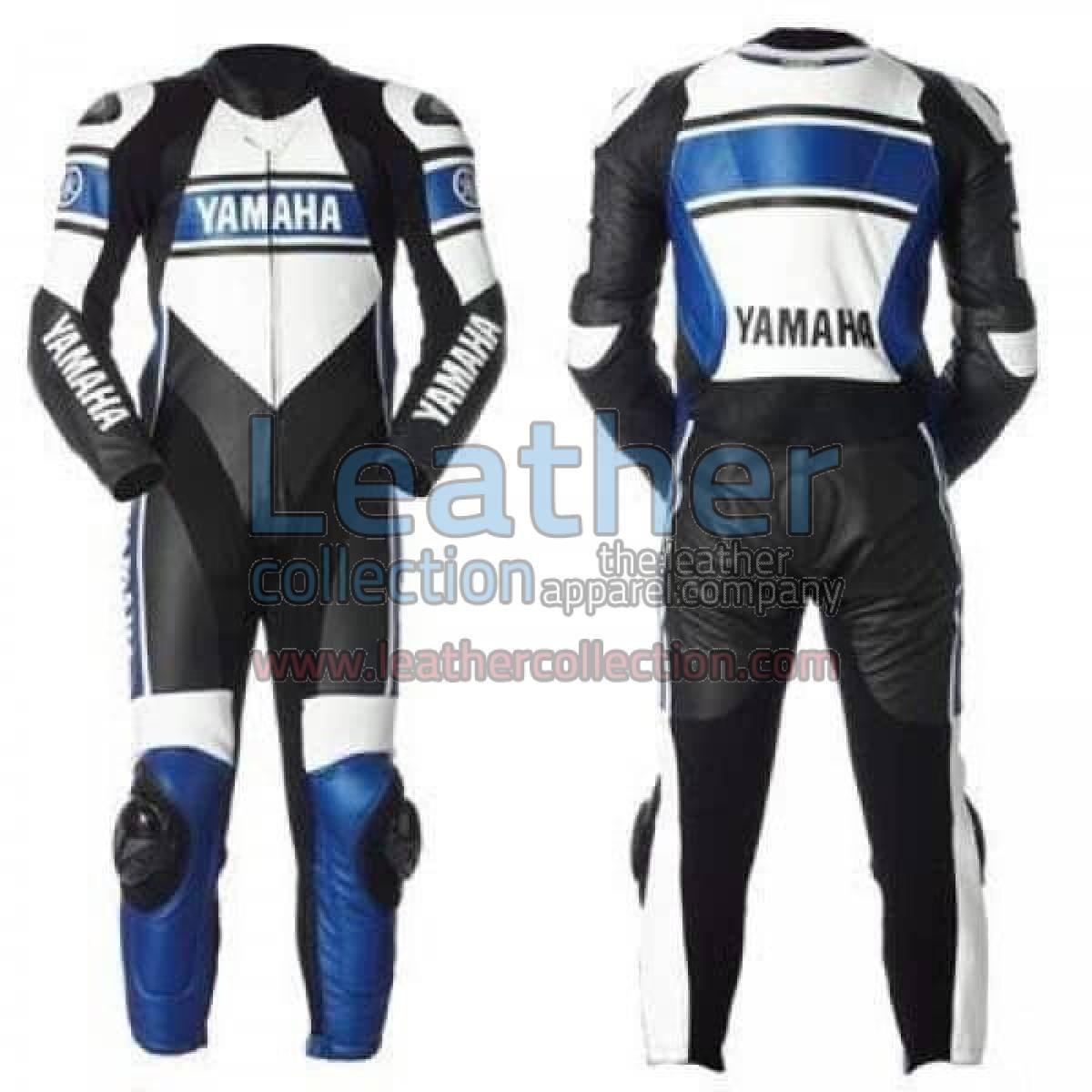 Yamaha Motorcycle Leather Suit Blue