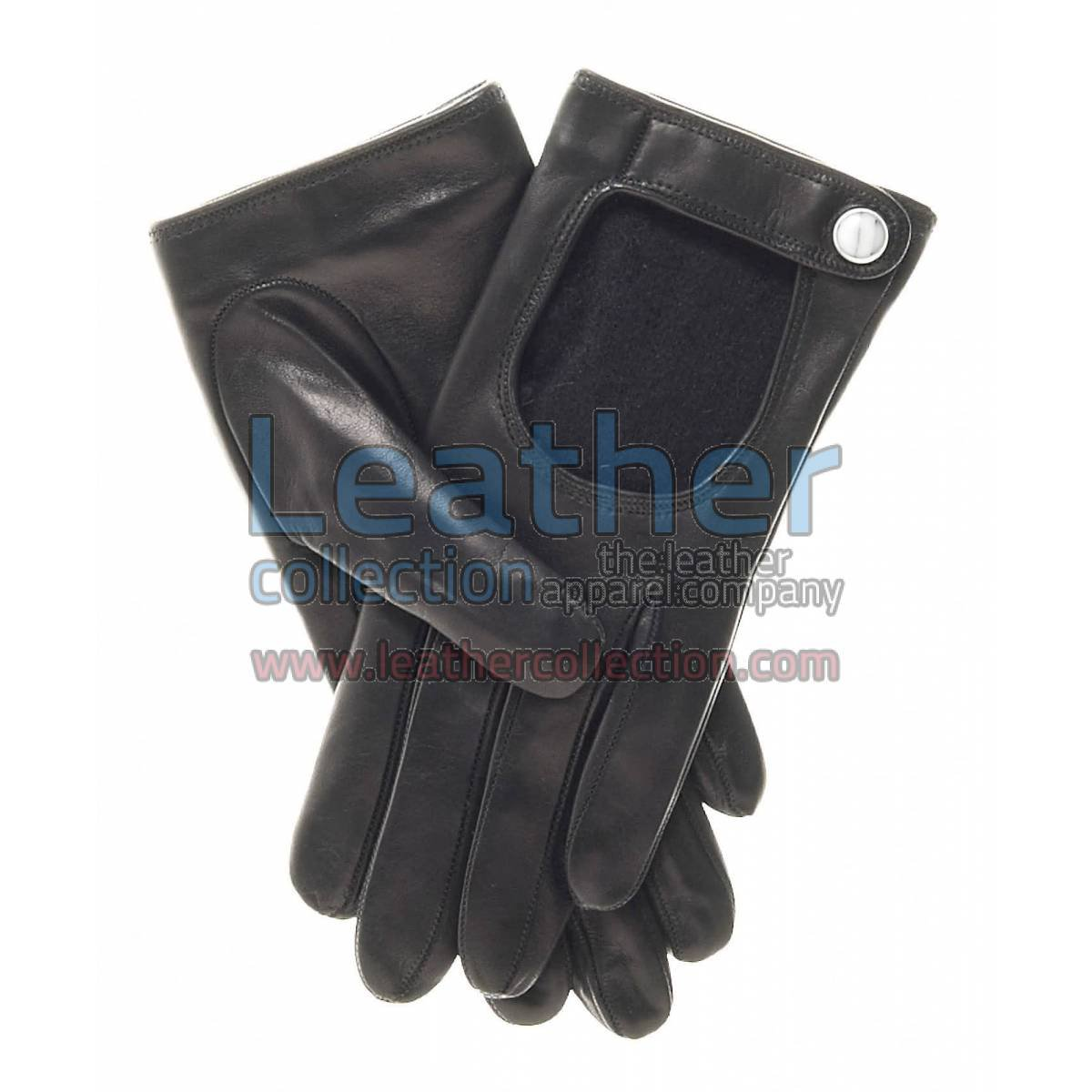 Winter Cashmere Wool Lined Driving Gloves