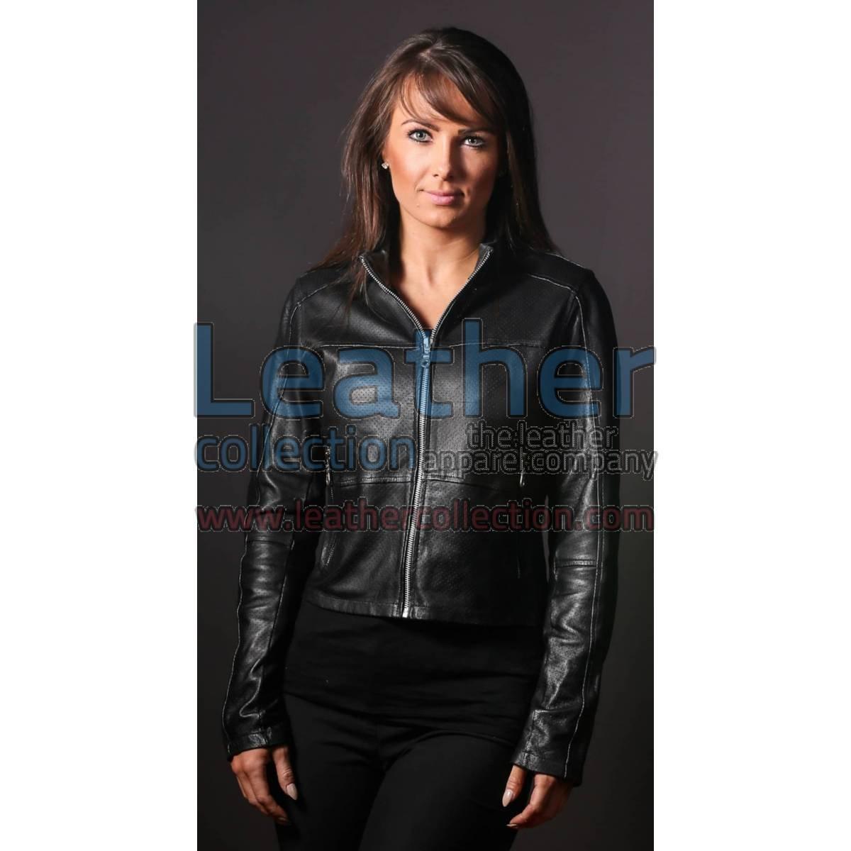 Women LeatherFashion Steel jacket