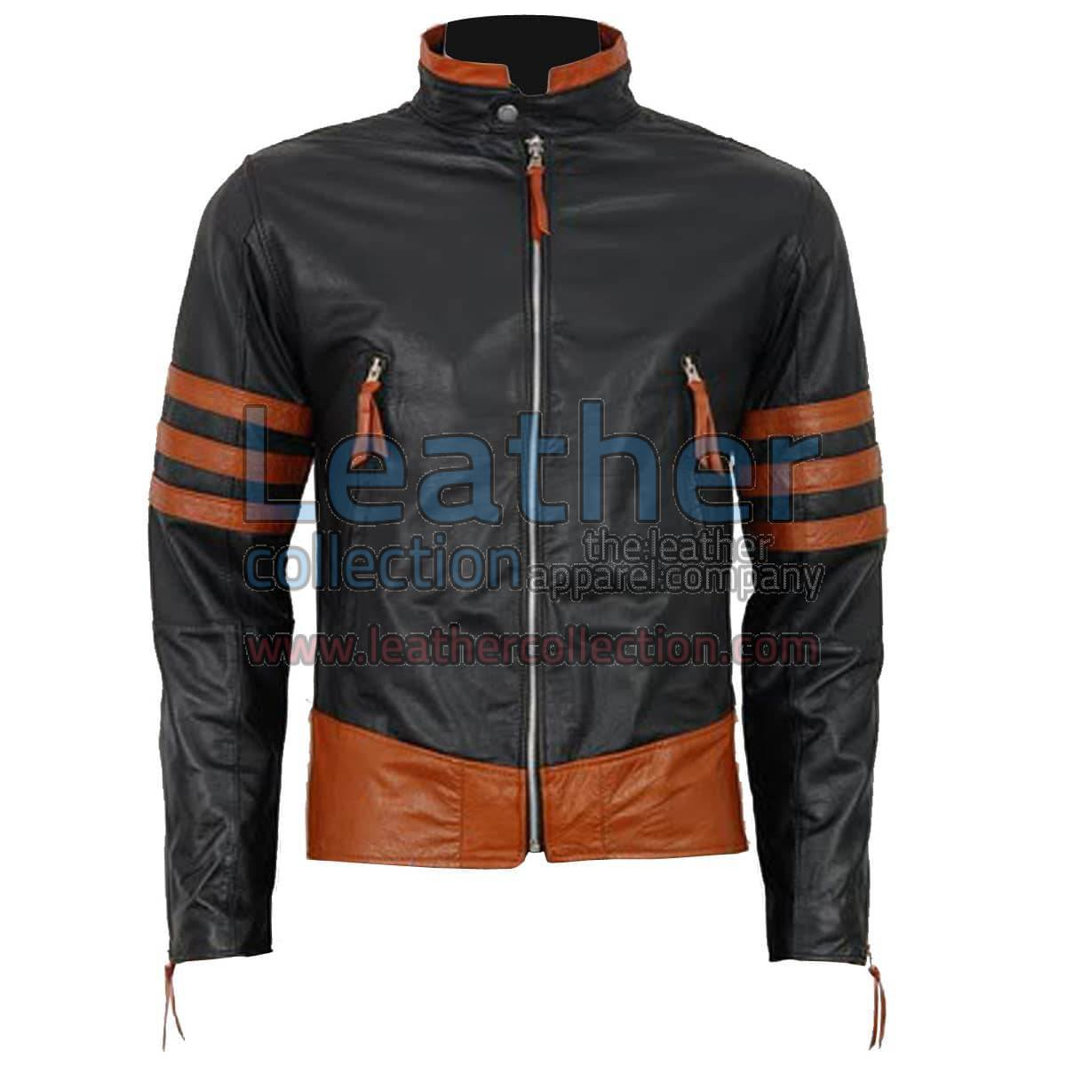 X-MEN Wolverine Origins Biker Style Black Leather Jacket