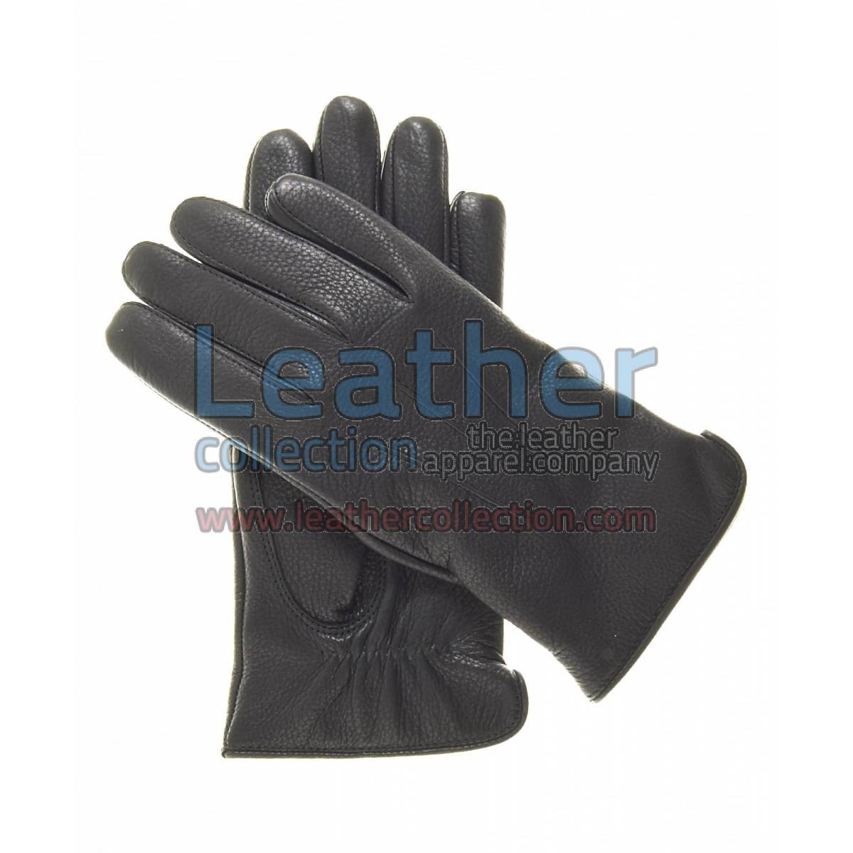 Women Winter Gloves Black with Wool Lining