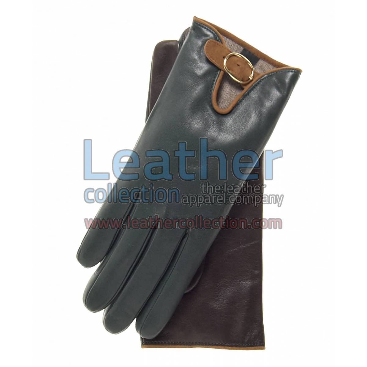 Wool Lined Buckled Gloves for Ladies