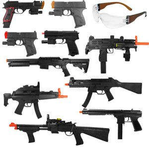13 Lot Airsoft Guns - Uzi, Tech-9, MP5, Shotguns, Pistols