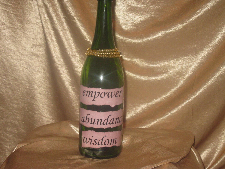 Quote Bottle: Incense Holder