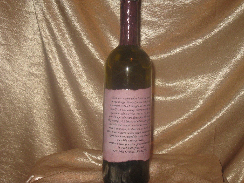 Love Letter Bottle: Incense Holder