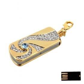Luxurious Scroll Jewelry Jewelry USB Flash Drive - Optional Memory (8GB)