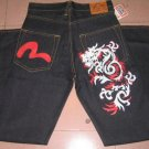 Evisu Dragon and logo Jean
